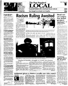 Syracuse Post Standard, March 17, 2005, p. 17