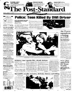 Syracuse Post Standard, March 18, 2005, Page 1
