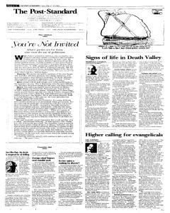 Syracuse Post Standard, March 18, 2005, p. 12