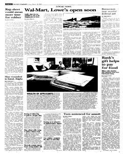 Syracuse Post Standard, March 18, 2005, p. 16