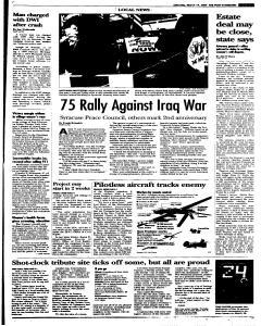 Syracuse Post Standard, March 19, 2005, p. 15