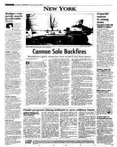 Syracuse Post Standard, March 20, 2005, p. 20