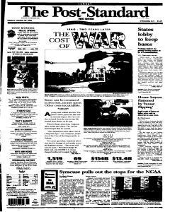 Syracuse Post Standard, March 20, 2005, Page 238