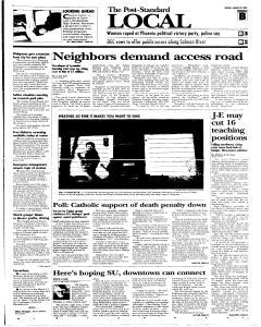 Syracuse Post Standard, March 22, 2005, Page 13