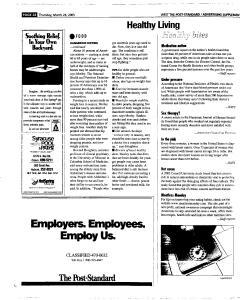 Syracuse Post Standard, March 24, 2005, Page 320
