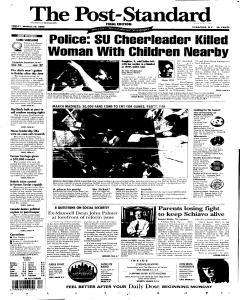 Syracuse Post Standard, March 25, 2005, Page 1