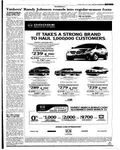 Syracuse Post Standard, March 25, 2005, Page 33