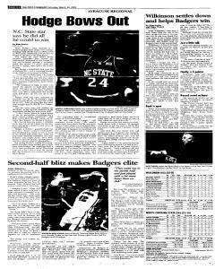 Syracuse Post Standard, March 26, 2005, Page 30