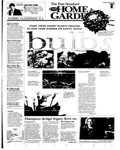 Syracuse Post Standard, March 26, 2005, Page 37