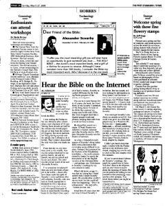 Syracuse Post Standard, March 27, 2005, Page 138