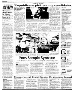 Syracuse Post Standard, March 27, 2005, Page 214