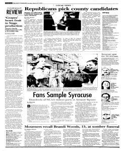 Syracuse Post Standard, March 27, 2005, Page 266