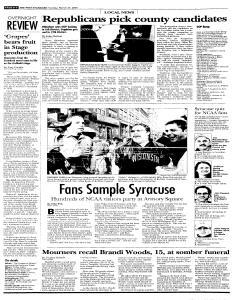 Syracuse Post Standard, March 27, 2005, Page 292