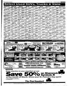 Syracuse Post Standard, March 27, 2005, Page 84