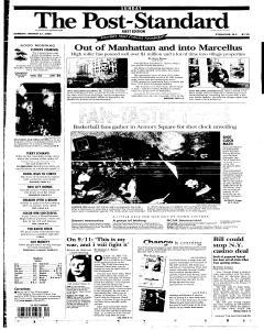 Syracuse Post Standard, March 27, 2005, Page 217