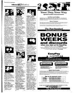 Syracuse Post Standard, March 27, 2005, Page 92