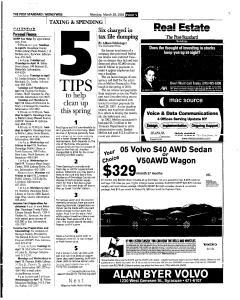 Syracuse Post Standard, March 28, 2005, Page 47