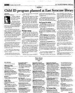 Syracuse Post Standard, April 14, 2005, Page 100