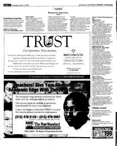 Syracuse Post Standard, April 14, 2005, Page 138