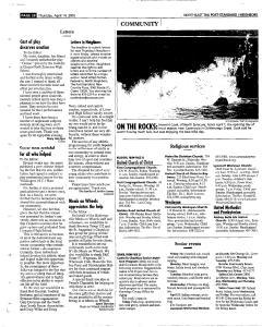 Syracuse Post Standard, April 14, 2005, Page 154