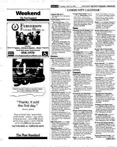Syracuse Post Standard, April 14, 2005, Page 156