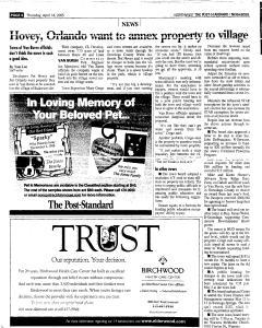 Syracuse Post Standard, April 14, 2005, Page 170