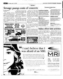 Syracuse Post Standard, April 14, 2005, Page 174