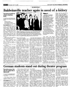 Syracuse Post Standard, April 14, 2005, Page 182