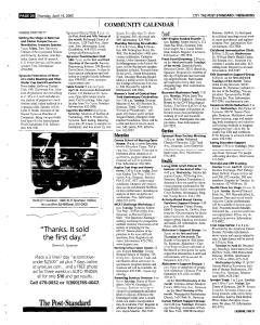 Syracuse Post Standard, April 14, 2005, Page 218