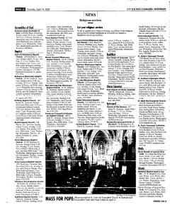 Syracuse Post Standard, April 14, 2005, Page 220