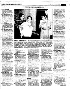 Syracuse Post Standard, April 14, 2005, Page 157