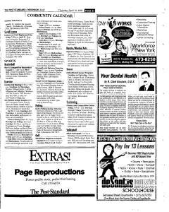 Syracuse Post Standard, April 14, 2005, Page 123