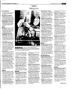 Syracuse Post Standard, April 14, 2005, Page 221