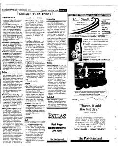 Syracuse Post Standard, April 14, 2005, Page 260