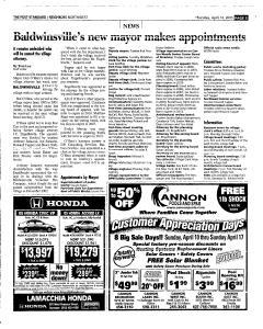 Syracuse Post Standard, April 14, 2005, Page 167