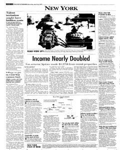 Syracuse Post Standard, April 16, 2005, Page 8