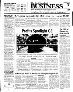Syracuse Post Standard, April 16, 2005, Page 15
