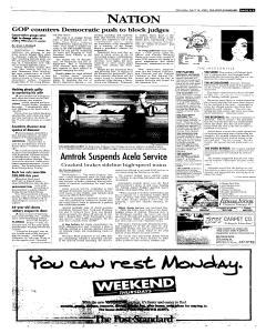 Syracuse Post Standard, April 16, 2005, Page 5