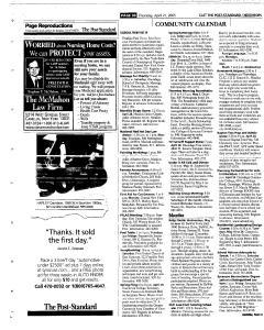 Syracuse Post Standard, April 21, 2005, Page 116