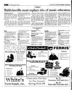 Syracuse Post Standard, April 21, 2005, Page 126