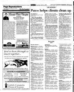 Syracuse Post Standard, April 21, 2005, Page 140