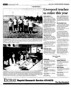 Syracuse Post Standard, April 21, 2005, Page 142