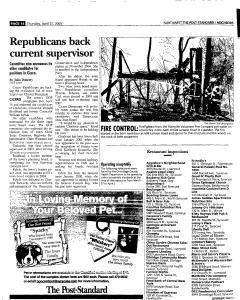 Syracuse Post Standard, April 21, 2005, Page 176