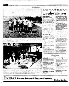 Syracuse Post Standard, April 21, 2005, Page 182