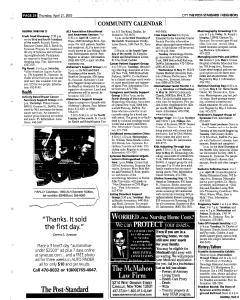 Syracuse Post Standard, April 21, 2005, Page 226