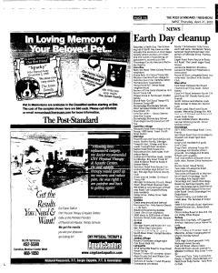 Syracuse Post Standard, April 21, 2005, Page 244