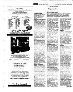 Syracuse Post Standard, April 21, 2005, Page 260