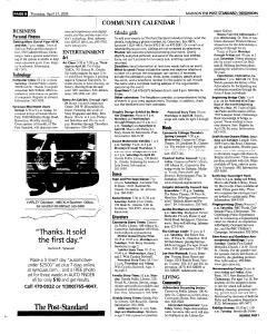 Syracuse Post Standard, April 21, 2005, Page 360