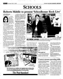 Syracuse Post Standard, April 21, 2005, Page 362