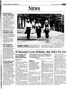 Syracuse Post Standard, April 21, 2005, Page 89